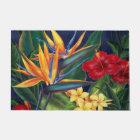 Tropical Paradise Hawaiian Floral Doormat