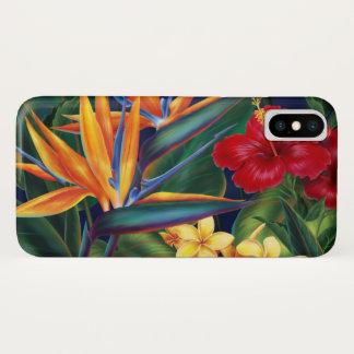 Tropical Paradise Hawaiian Floral iPhone X Case