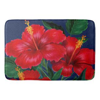 Tropical Paradise Hibiscus Hawaiian Bath Mat