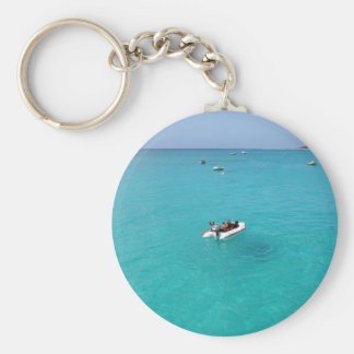 tropical paradise key ring