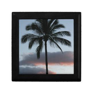 Tropical Paradise Palm Tree Small Square Gift Box