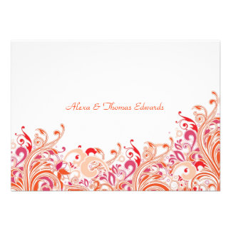 Tropical Paradise Personalized Thank You Card
