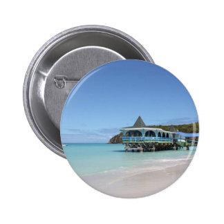 Tropical Paradise Pier on Antigua 6 Cm Round Badge