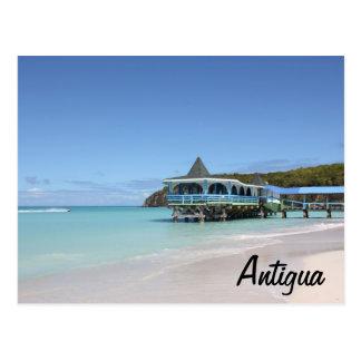 Tropical Paradise Pier on Antigua Postcard
