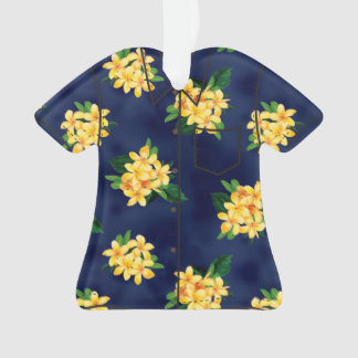 Tropical Paradise Plumeria Hawaiian Aloha Shirt Ornament