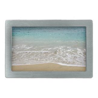 tropical paradise rectangular belt buckle