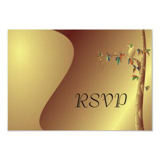 Tropical Paradise RSVP Wedding Invitation