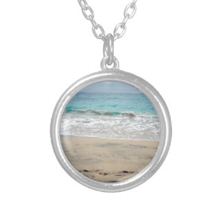 tropical paradise silver plated necklace