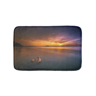 Tropical Paradise Sunset Bath Mat