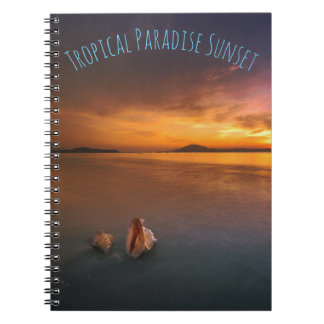 Tropical Paradise Sunset Notebook