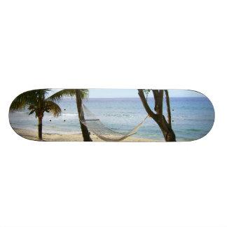 Tropical Paradise Water Beach Sand Surf Destiny Custom Skate Board