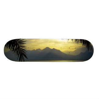 Tropical Paradise Water Beach Sand Surf Destiny Skate Board Deck