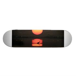 Tropical Paradise Water Beach Sunset Birds Destiny Custom Skateboard