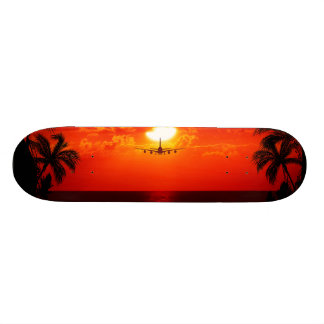 Tropical Paradise Water Beach Sunset Jet Destiny Skateboard