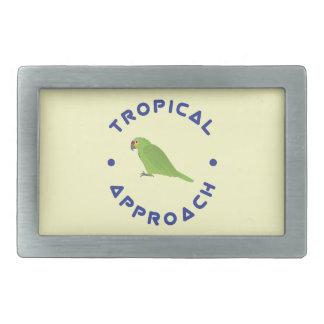 Tropical Parrot Belt Buckle