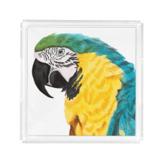 Tropical Parrot Bird Acrylic Tray