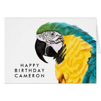 Tropical Parrot Bird Card
