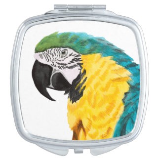 Tropical Parrot Bird Compact Mirrors