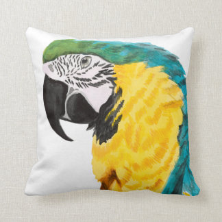 Tropical Parrot Bird Cushion