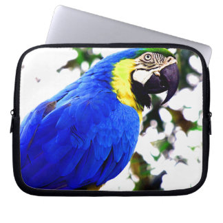 Tropical Parrot Bird Laptop Sleeve