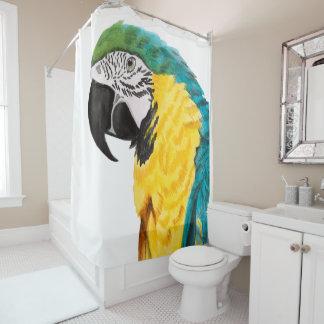Tropical Parrot Bird Shower Curtain