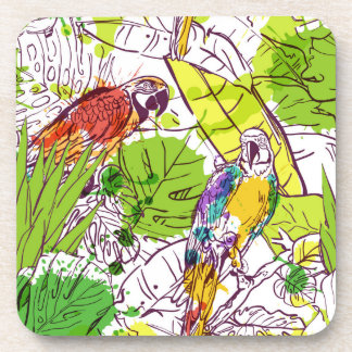 Tropical Parrots Coaster