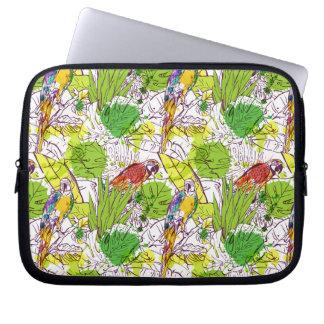 Tropical Parrots Laptop Computer Sleeves
