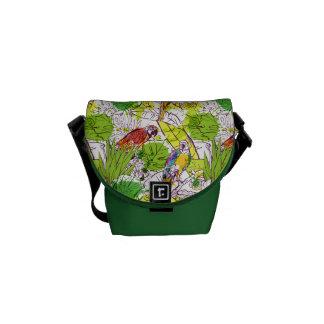 Tropical Parrots Messenger Bag