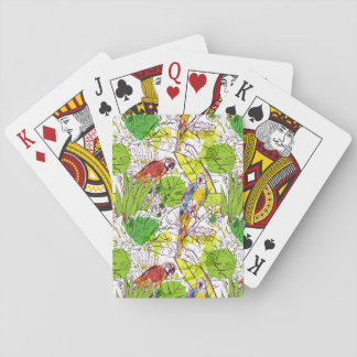 Tropical Parrots Playing Cards