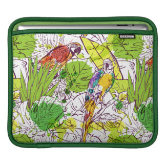 Tropical Parrots Sleeve For iPads