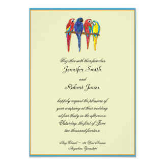 Tropical Parrots Wedding Invitation