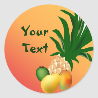 Tropical Party Food Sticker