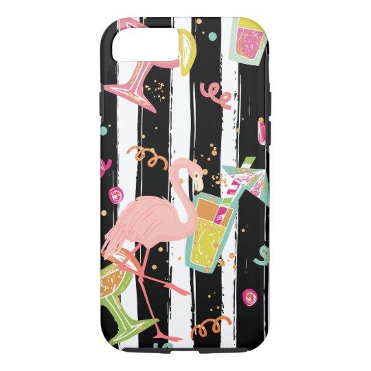 Tropical Party Fun Flamingo iPhone 8/7 Case