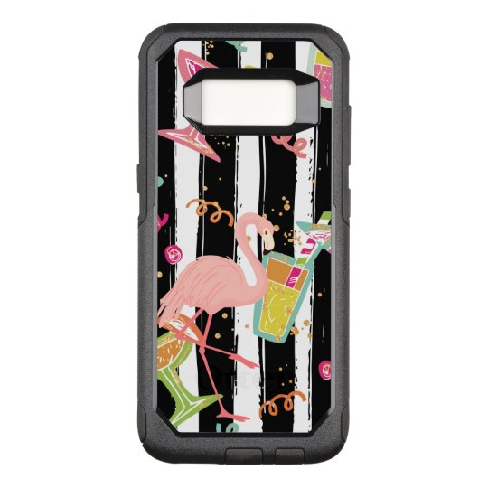 Tropical Party Fun Flamingo OtterBox Commuter Samsung Galaxy S8 Case