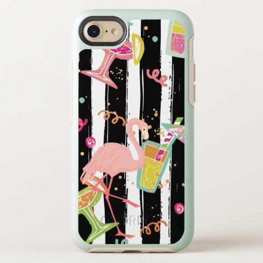 Tropical Party Fun Flamingo OtterBox Symmetry iPhone 8/7 Case