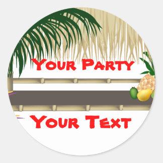 Tropical Party Tiki Hut Sticker 2