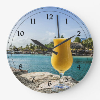 Tropical Passion Fruit Drink Large Clock