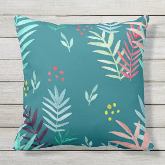 Tropical Pattern #4 Outdoor Cushion