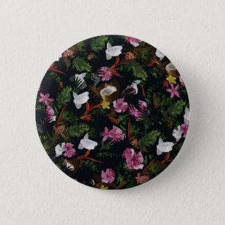 Tropical pattern 6 cm round badge