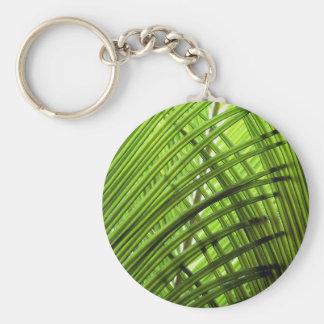 Tropical Pattern Basic Round Button Key Ring