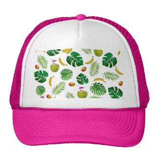 Tropical pattern cap