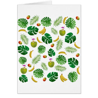 Tropical pattern card