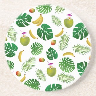 Tropical pattern coaster