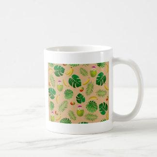 Tropical pattern coffee mug