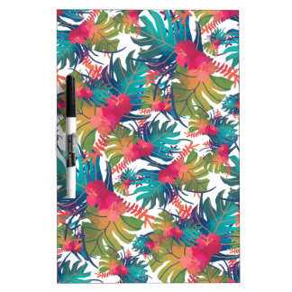 Tropical Pattern Dry Erase Board