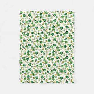 Tropical pattern fleece blanket