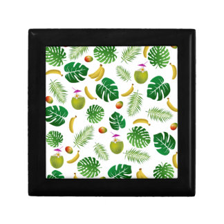 Tropical pattern gift box
