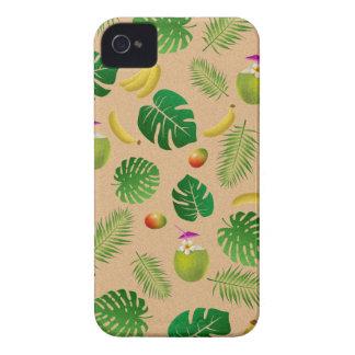 Tropical pattern iPhone 4 Case-Mate case