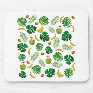 Tropical pattern mouse pad