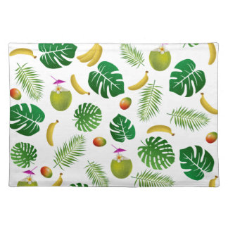 Tropical pattern placemat